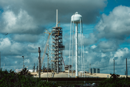 Cape Canaveral, Florida - August 13, 2018: Rocket Launch Pad at NASA Kennedy Space Center