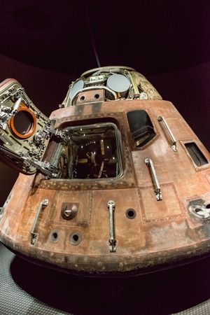Cape Canaveral, Florida - August 13, 2018: Apollo 14 Capsuleat NASA Kennedy Space Center