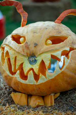 CHADDS FORD, PA - OCTOBER 18: The Great Pumpkin Carve carving contest on October 18, 2018