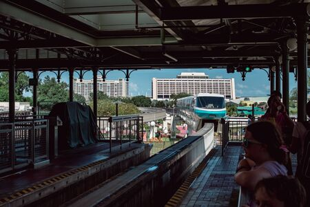 August 8, 2019 - Orlando, FL: View of the Monorail transportation system at the Walt Disney World theme park
