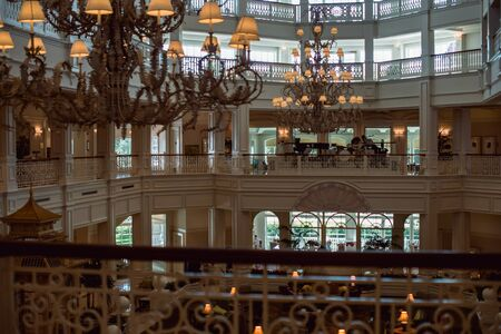 August 16, 2018 - Orlando, FL: View of Interior of the Walt Disney World Grand Floridian Resort