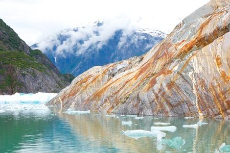streaked: Rust Streaked Rock in Alaska Icy Bay