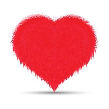 homosexual couple: Furry Heart Illustration