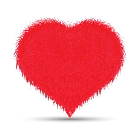 Furry Heart Illustration
