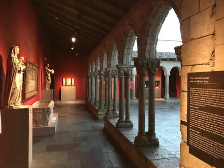 Museum pillars Banco de Imagens