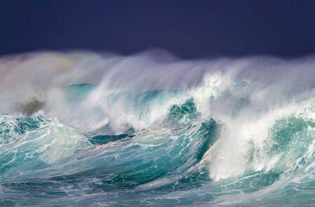 Breaking Ocean wave with Rainbow colors Reklamní fotografie