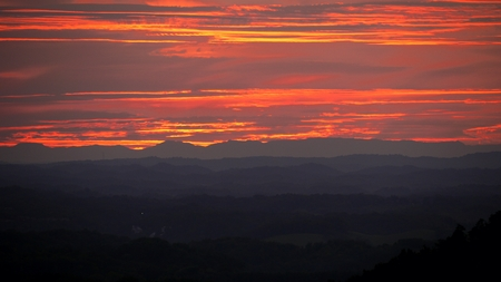 forge: Sunset Overlooking Pigeon Forge Tennesse - Great Smokey Mountains