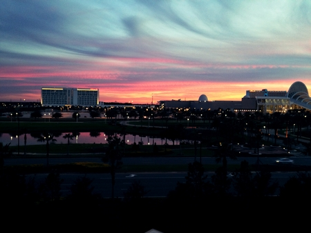 Sunset Over the Orange County Convention Center in Orlando,