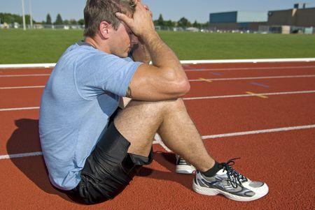 Male athlete didnt win race photo