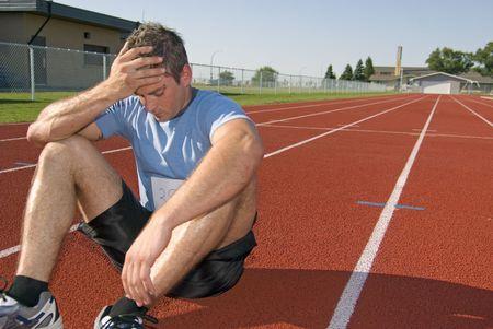 primer lugar: Athelete masculino no gana la carrera