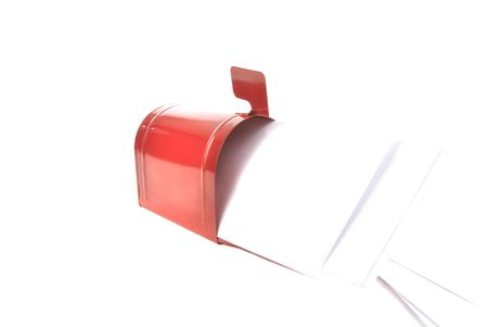 Letters in red metal postbox