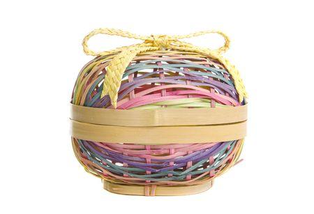 Pastel Easter Egg Basket Zdjęcie Seryjne