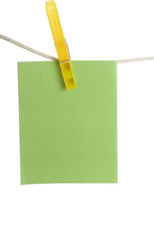 notecard: Colourful spring notecards hanging on clothesline