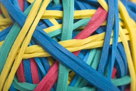 Macro of Rubber Bands