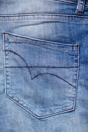 seams: Jeans pocket with seams