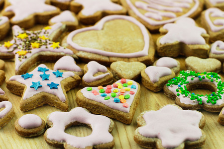 self indulgence: Cookies for Christmas homemade Stock Photo