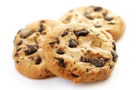 Chocolate cookies close-up
