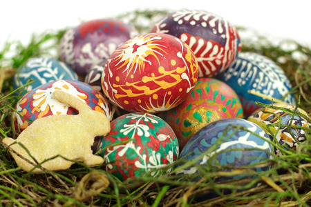public celebratory event: Easter bunny and eggs