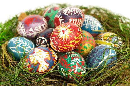 public celebratory event: Easter eggs in nest