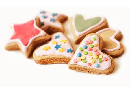 Colorful cookies for Christmas closeup Banco de Imagens