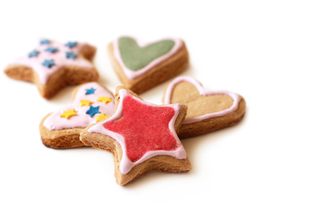 christmas decorations: Multicolored cookies for Christmas homemade