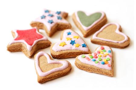 galletas de jengibre: Galletas multicolores Foto de archivo