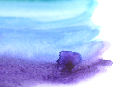 blot: Watercolor painting with blue blot