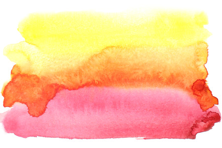 Abstract watercolor background in yellow, orange, pink