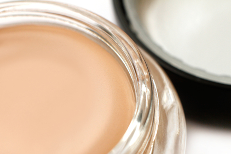 tonal: Pink tonal cream close-up Stock Photo
