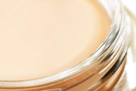 tonal: Pink tonal cream fragment close-up