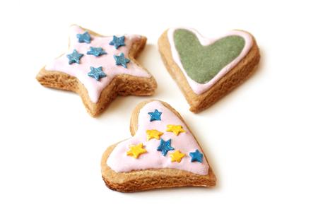 glaze: Cookies with glaze for Christmas
