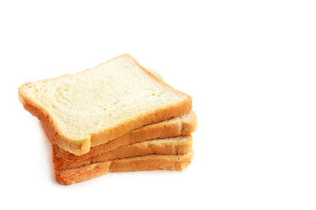 dearth: Slices of bread isolated on white background
