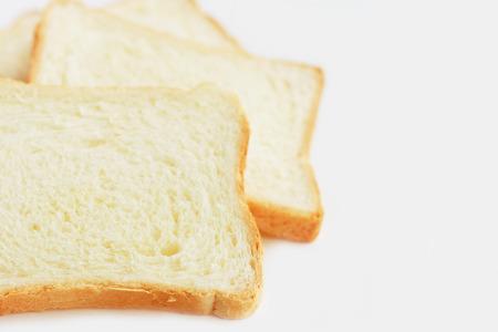 dearth: White bread closeup Stock Photo