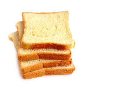 dearth: White bread sliced ??into pieces