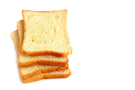 dearth: Slices of white bread on white background