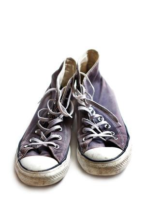 worn: Old worn sneakers