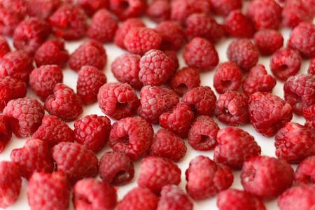 Heap of raspberries full frame background