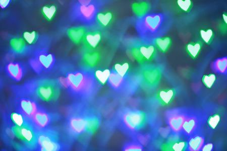 Colorful garlands bokeh in valentine day Banco de Imagens
