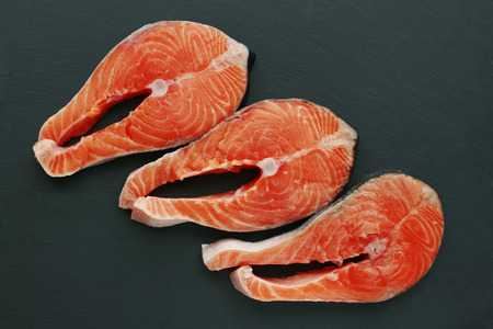 Fresh red salmon fish Banco de Imagens