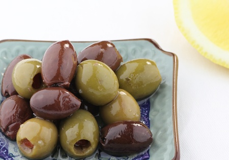 Mixed Green and Black Olives