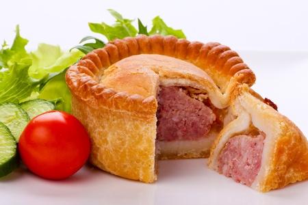 A small traditional Pork Pie Stock Photo