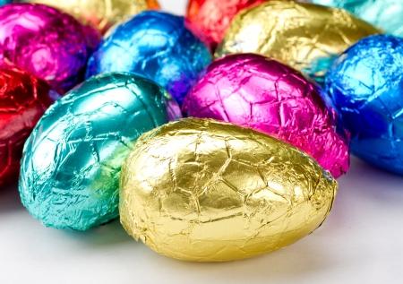 oeufs en chocolat: Color� de P�ques au chocolat Oeufs