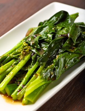 lan: Chinese Broccoli with Garlic and Oyster Sauce