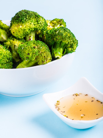 broccoli salad: Steamed Broccoli with dressing