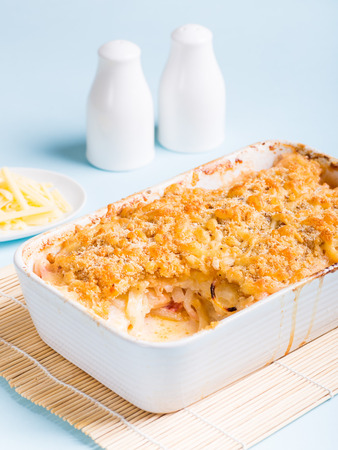 Potato Bake with cheese and onion