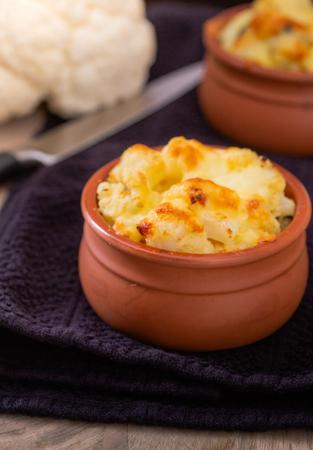 Cauliflower with cheese Stock Photo