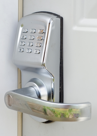 number lock: Electronic lock Stock Photo