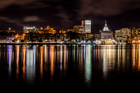 Savannah Skyline at Night photo