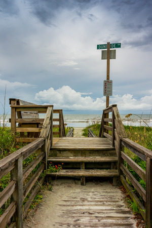 Beach access to a popular beach in Ocean Isle, North Carolina