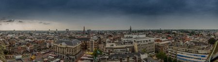 groningen: A view over the city of Groningen in the Netherlands